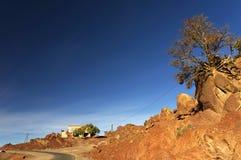 Μαροκινό χωριό στα βουνά αντι-ατλάντων Στοκ Εικόνα