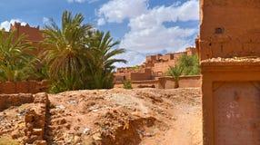 Μαροκινό χωριό στο νότιο μέρος Στοκ εικόνες με δικαίωμα ελεύθερης χρήσης