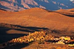 μαροκινό χωριό Στοκ Εικόνα