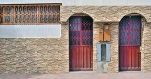 Μαροκινό ύφος στην αρχιτεκτονική των κατοικημένων κτηρίων Στοκ Εικόνες