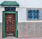 Μαροκινό ύφος στην αρχιτεκτονική των κατοικημένων κτηρίων Στοκ φωτογραφίες με δικαίωμα ελεύθερης χρήσης