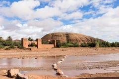 Μαροκινό kasbah Ait ben Haddou quarzazate πλησίον Στοκ Φωτογραφίες