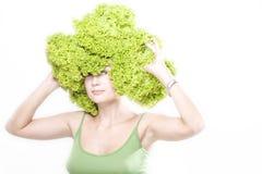 μαρούλι hairdo κοριτσιών στοκ εικόνα με δικαίωμα ελεύθερης χρήσης
