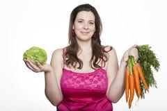Μαρούλι ή καρότα Στοκ φωτογραφία με δικαίωμα ελεύθερης χρήσης