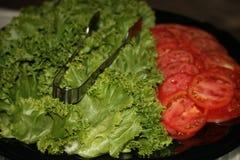 Μαρούλι και ντομάτα Στοκ φωτογραφία με δικαίωμα ελεύθερης χρήσης