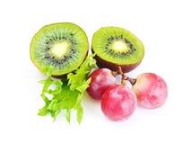 Μαρούλι, Apple και σαλάτα σταφυλιών Στοκ Εικόνες