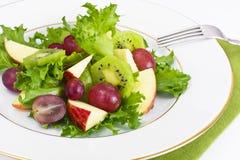 Μαρούλι, Apple και σαλάτα σταφυλιών Στοκ εικόνα με δικαίωμα ελεύθερης χρήσης