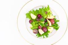 Μαρούλι, Apple και σαλάτα σταφυλιών Στοκ εικόνες με δικαίωμα ελεύθερης χρήσης