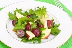 Μαρούλι, Apple και σαλάτα σταφυλιών Στοκ Φωτογραφία