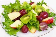 Μαρούλι, Apple και σαλάτα σταφυλιών Στοκ φωτογραφίες με δικαίωμα ελεύθερης χρήσης
