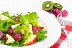 Μαρούλι, Apple και σαλάτα σταφυλιών Στοκ φωτογραφία με δικαίωμα ελεύθερης χρήσης