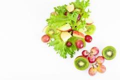 Μαρούλι, Apple και σαλάτα σταφυλιών Στοκ Φωτογραφίες