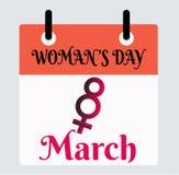 8 Μαρτίου διάνυσμα ημέρας της γυναίκας απεικόνιση αποθεμάτων