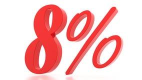 8 Μαρτίου εκπτώσεις percent τρισδιάστατος Στοκ Εικόνες