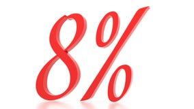 8 Μαρτίου εκπτώσεις percent τρισδιάστατος Στοκ Εικόνα