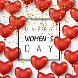 8 Μαρτίου ευτυχής ημέρα γυναικών s επίσης corel σύρετε το διάνυσμα απεικόνισης Όμορφο πρότυπο για τον Ιστό, πώληση, κάρτα, εμβλήμ Στοκ Εικόνες
