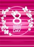 8 Μαρτίου ημέρα παγκόσμιων γυναικών ` s Στοκ Εικόνες