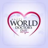 30 Μαρτίου, ημέρα του παγκόσμιου γιατρού ευχετήρια κάρτα έννοιας, εθνικό πρότυπο θερμ. ημέρας γιατρών απεικόνιση αποθεμάτων