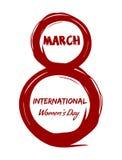 8 Μαρτίου Ημέρα των διεθνών γυναικών σχεδιάστε τα στοιχεία grunge Στοκ Φωτογραφία