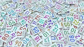 1 Μαρτίου ημερομηνία στο ημερολογιακό φύλλο μεταξύ άλλων φύλλων, τρισδ απεικόνιση αποθεμάτων