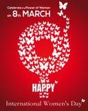 8 Μαρτίου Θηλυκό σύμβολο γένους Κάρτα ημέρας των διεθνών γυναικών Στοκ εικόνες με δικαίωμα ελεύθερης χρήσης