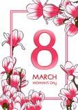 8 Μαρτίου κάρτα Στοκ εικόνες με δικαίωμα ελεύθερης χρήσης