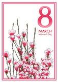 8 Μαρτίου κάρτα Στοκ Εικόνες