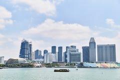 19 Μαρτίου 2019 - Σιγκαπούρη: Ουρανοξύστες μέσα κεντρικός της Σιγκαπούρης Κέντρο της πόλης με τους ουρανοξύστες, Σιγκαπούρη στοκ φωτογραφία με δικαίωμα ελεύθερης χρήσης