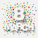 8 Μαρτίου Στοκ εικόνες με δικαίωμα ελεύθερης χρήσης