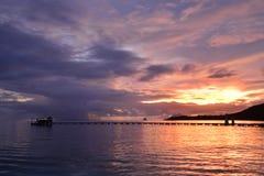Μαρτινίκα, γραφική πόλη Sainte Anne στις Δυτικές Ινδίες Στοκ φωτογραφία με δικαίωμα ελεύθερης χρήσης