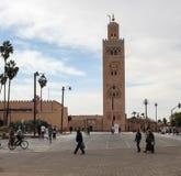 Μαρόκο Μουσουλμανικό τέμενος Koutoubia στο Μαρακές Στοκ Φωτογραφίες