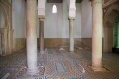 Μαρόκο οι τάφοι Saadian στο Μαρακές Στοκ εικόνα με δικαίωμα ελεύθερης χρήσης