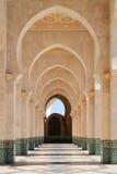 Μαρόκο Arcade του Χασάν ΙΙ μουσουλμανικό τέμενος στη Καζαμπλάνκα Στοκ Φωτογραφία