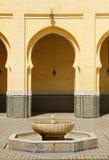 Μαρόκο, Meknes, ισλαμικά αψίδες και patio Στοκ φωτογραφία με δικαίωμα ελεύθερης χρήσης