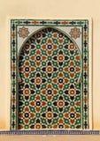 Μαρόκο, Meknes, ισλαμική επιτροπή τοίχων Στοκ Φωτογραφίες