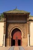 Μαρόκο, Meknes, ισλαμική σχηματισμένη αψίδα είσοδος Στοκ Φωτογραφία