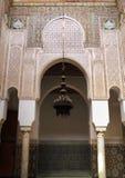 Μαρόκο, Meknes, ισλαμικοί αψίδες και στόκος Στοκ Εικόνα