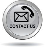 Μας ελάτε σε επαφή με γκρίζο ασήμι εικονιδίων κλήσης ταχυδρομείου κουμπιών διανυσματική απεικόνιση