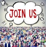 Μας ενώστε επιχειρησιακή έννοια υποστήριξης πρόσκλησης στοκ φωτογραφία με δικαίωμα ελεύθερης χρήσης