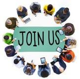 Μας ενώστε επιχειρησιακή έννοια υποστήριξης πρόσκλησης στοκ φωτογραφίες με δικαίωμα ελεύθερης χρήσης
