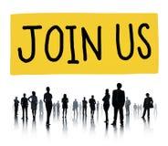 Μας ενώστε δικτύωση πληροφοριών για την επιχειρησιακή έννοια στοκ εικόνα με δικαίωμα ελεύθερης χρήσης