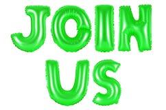 Μας ενώστε, πράσινο χρώμα στοκ εικόνες με δικαίωμα ελεύθερης χρήσης