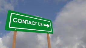 Μας ελάτε σε επαφή με οδικό σημάδι απεικόνιση αποθεμάτων