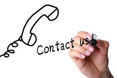 Μας ελάτε σε επαφή με! στοκ εικόνες