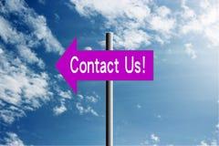 Μας ελάτε σε επαφή με! Στοκ Εικόνα