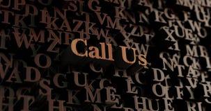 Μας καλέστε - ξύλινες τρισδιάστατες επιστολές/μήνυμα Στοκ Φωτογραφία