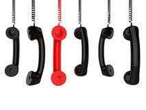 Μας καλέστε τηλέφωνο αντιπροσωπεύει τη συζήτηση και τη συνομιλία ομιλίας Στοκ Εικόνες