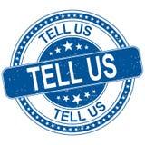 Μας πέστε γύρω από την μπλε βρώμικη απεικόνιση σφραγιδών ελεύθερη απεικόνιση δικαιώματος