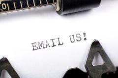μας στείλετε μήνυμα με το ηλεκτρονικό ταχυδρομείο Στοκ Εικόνες