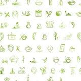 Μασάζ και έννοια SPA, άνευ ραφής σχέδιο για το σας Στοκ εικόνα με δικαίωμα ελεύθερης χρήσης